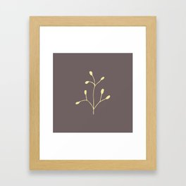 Coffee color brach Framed Art Print