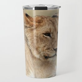 Lioness On The Masai Mara Kenya Travel Mug