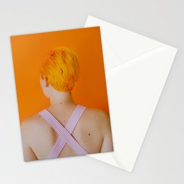 celia in orange Stationery Cards