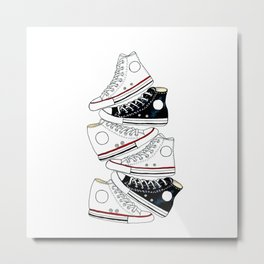 Sneakers black and white Metal Print