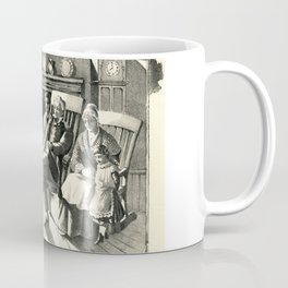 Once A Sailor, Family by Fire Listening to Sailor's Stories, vintage Coffee Mug