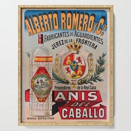 Affiche alberto romero y cia. anis del caballo Serving Tray