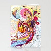 phoenix Stationery Cards featuring Phoenix by Nick La