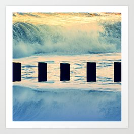Surf breaker Art Print