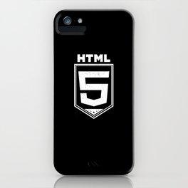HTML5 Vintage Style Logo Shirt for Web Developers iPhone Case