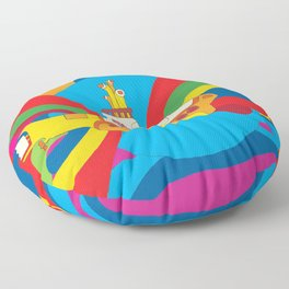 Yellow Submarine Floor Pillow