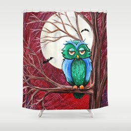 Hoo needs sleep Shower Curtain