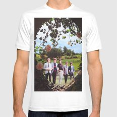 Waiting On A Friend White Mens Fitted Tee MEDIUM