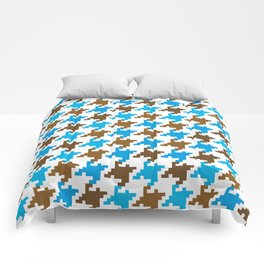 Houndstooth – blue Comforters