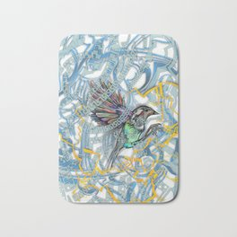 Songbird Trapped in a Cage of Its Expectations Bath Mat