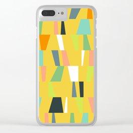 Modern Geometric 39 Clear iPhone Case