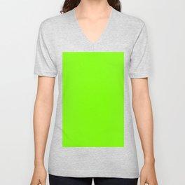color chartreuse Unisex V-Neck