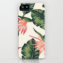 Palm Leaf & Flower Print iPhone Case