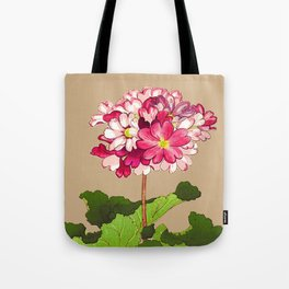Vintage Japanese Hydrangea. Fuchsia Pink and Green Tote Bag