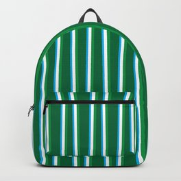 Between the Trees Forest Green, Green & Blue #811 Backpack