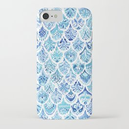 PAISLEY MERMAID Watercolor Scale Pattern iPhone Case