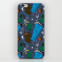 camping iPhone & iPod Skins featuring Camping by Chris Piascik