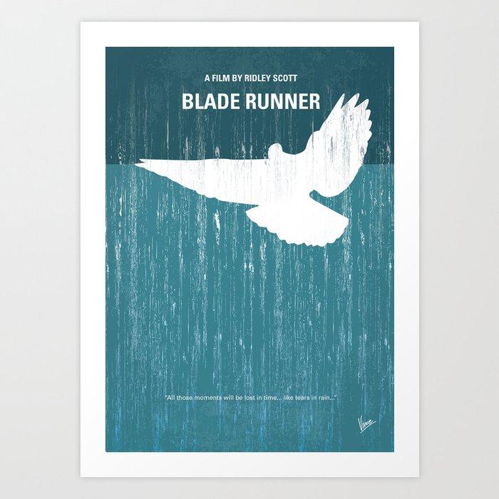 No011 My Blade Runner minimal movie poster Art Print