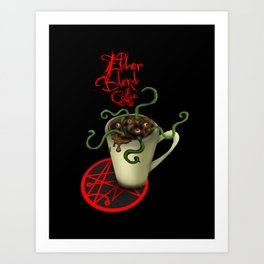 Elder Blend Coffee Art Print