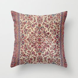 Persian Old Century Authentic Colorful Red Pink Light Blue Purple Vintage Patterns Throw Pillow
