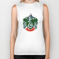 slytherin Biker Tanks featuring SLYTHERIN  by Smart Friend