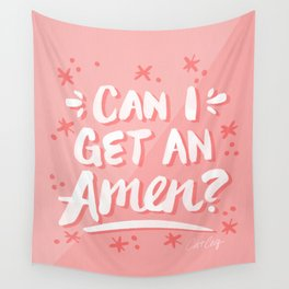 Can I Get An Amen? – Blush Pink Palette Wall Tapestry