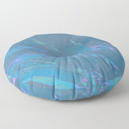 Holographic Artwork No 7 (Crystal) Floor Pillow