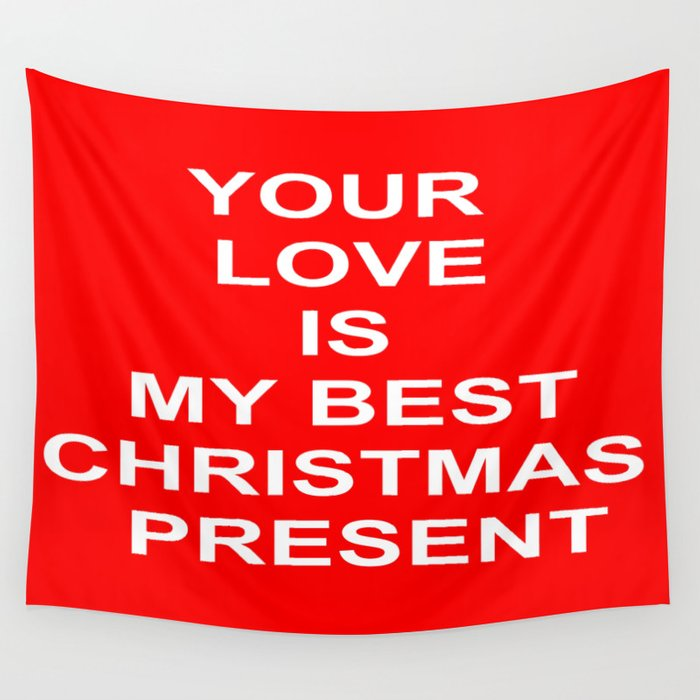 Christmas Red Wall Tapestry