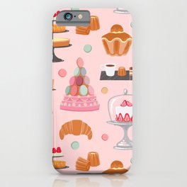 French pastries in pastel iPhone Case