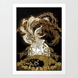 Art Nouveau - Dancing Lady Art Print