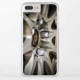 Close up of a JDM alloy rim Clear iPhone Case