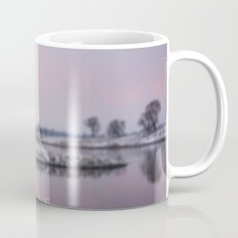 Winter Sunset At River Bank Coffee Mug