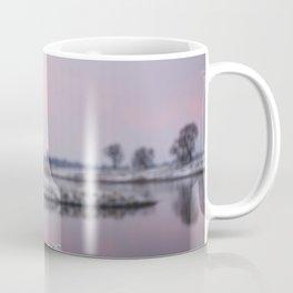 Winter Sunset At River Bank Coffee Mug