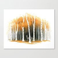 freeminds Canvas Prints featuring Autumn Wolf by Freeminds