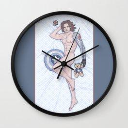 Bucky Pinup Heroic Nude Wall Clock