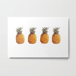 Low Poly Pineapple Metal Print