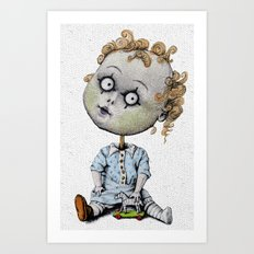 The Zombie Games (boy) Art Print