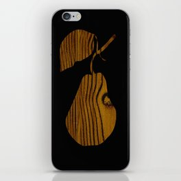 Wooden Pear iPhone Skin