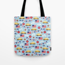Made in the USA New York City icons pattern Tote Bag