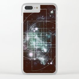 Galaxy Sacred Geometry: Golden Mean dark Clear iPhone Case
