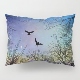 Wisdom Of The Night - Colorful Pillow Sham