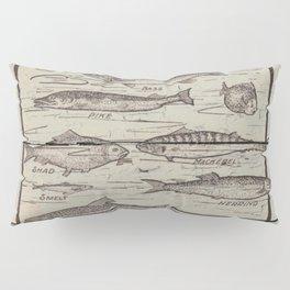 father's day fisherman gifts whitewashed wood lakehouse freshwater fish Pillow Sham