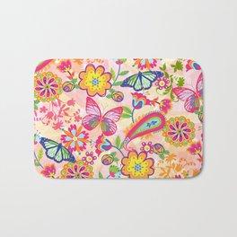 Butterflies and Fowers Bath Mat
