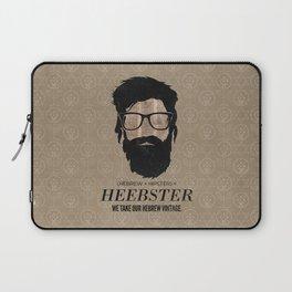 Heebster—We take our Hebrew vintage. Laptop Sleeve
