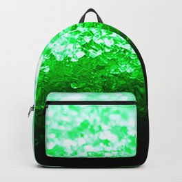 Emerald Green Ombre Crystals Backpack