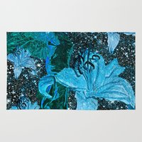 lily Area & Throw Rugs featuring Lily by Saundra Myles