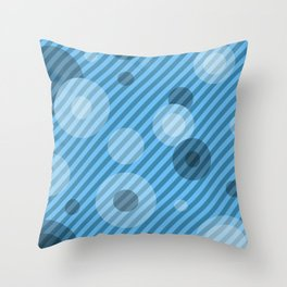 Stripe Flakes Throw Pillow
