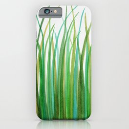 Green Grasses iPhone Case