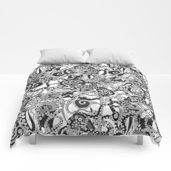 tentacles mono Comforters