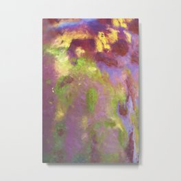 Colorful Rust Abstract Metal Print